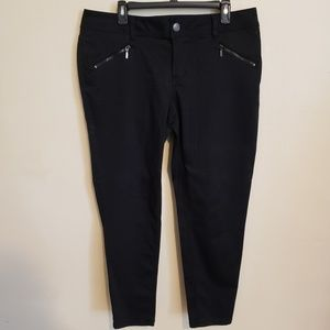 Lane Bryant  Black Pants With Zipper Pockets